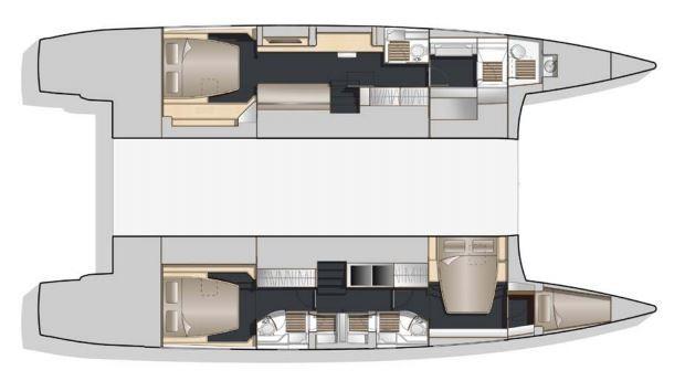 Bavaria-Nautitech 54 3 cabin layout
