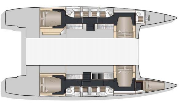 Bavaria-Nautitech 54 4 cabin layout