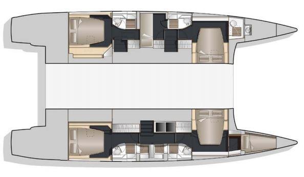 Bavaria-Nautitech 54 5 cabin layout