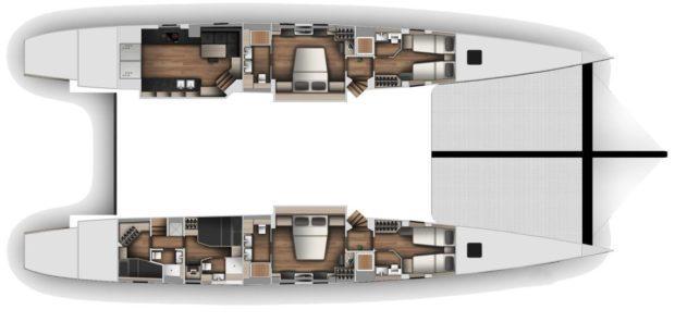 McConaghy 90 Multihull Hull Layout