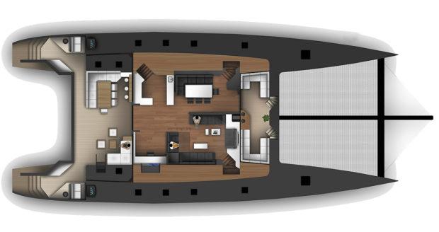 McConaghy 90 Multihull Main Deck Layout