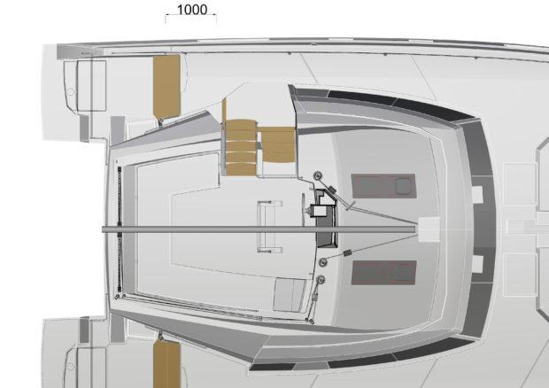 Bavaria Nautitech 46 Flybridge Layout