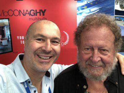 Gregor Tarjan, founder Aeroyacht with Bob Bitchin of Cruising Outpost Magazine