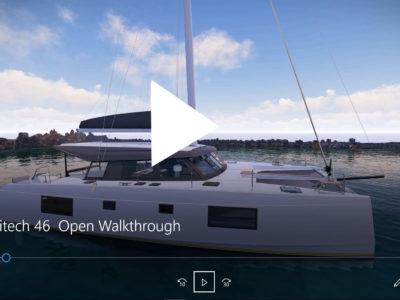 NEW Nautitech 46 Open Walkthrough Video