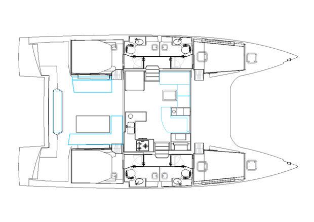 New Nautitech 46 Open 4 Cabin Interior