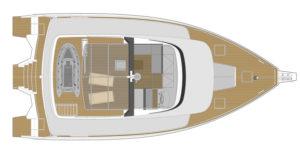 LEEN 56 Power Trimaran Layout - Aeroyacht Multihull Specialists