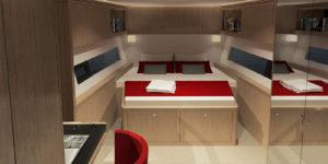 LEEN 72 Power Trimaran Layout - Aeroyacht Multihull Specialist Dealers