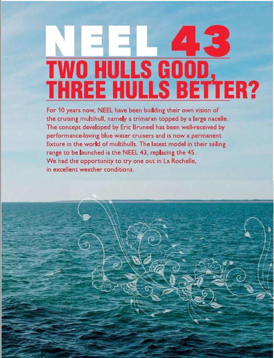 NEEL 43 Trimaran Test by Multihulls World Magazine