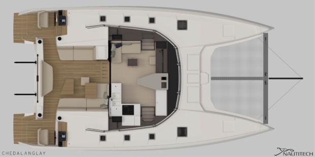 Nautitech 44 Open Layout - Main Deck Layout