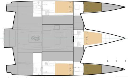 new NEEL 47 4 cabin layout hulls